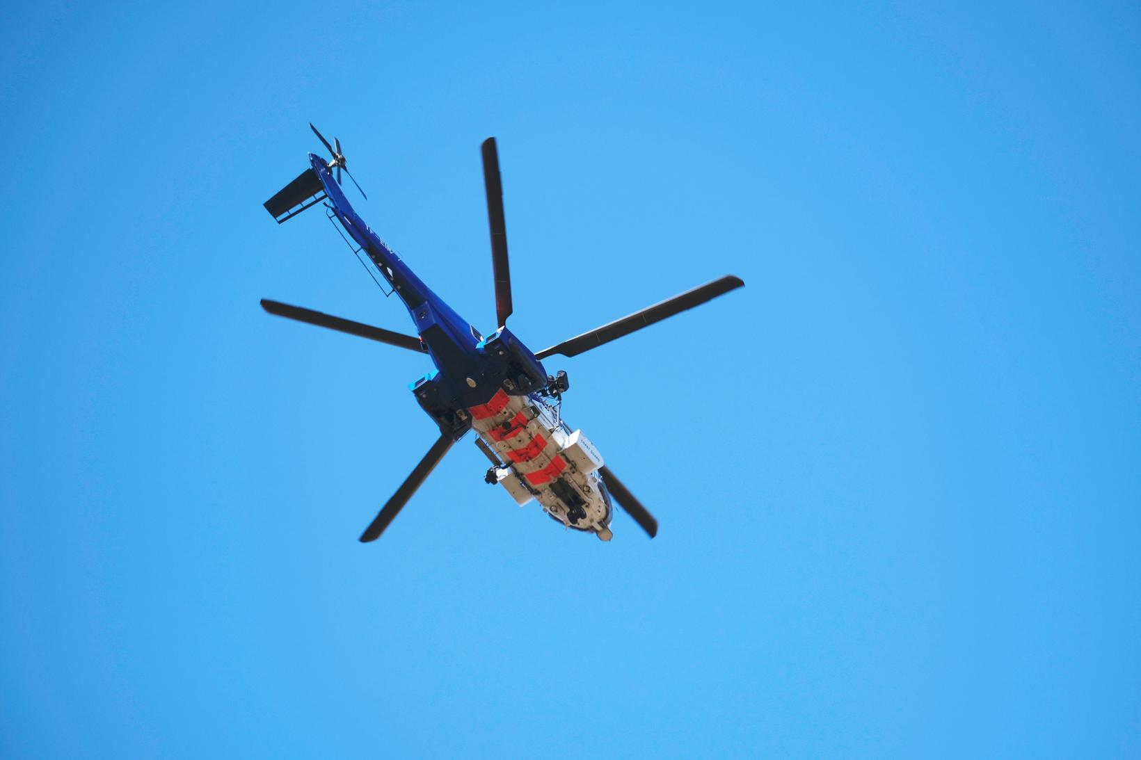 The Icelandic Coast Guard helicopter.