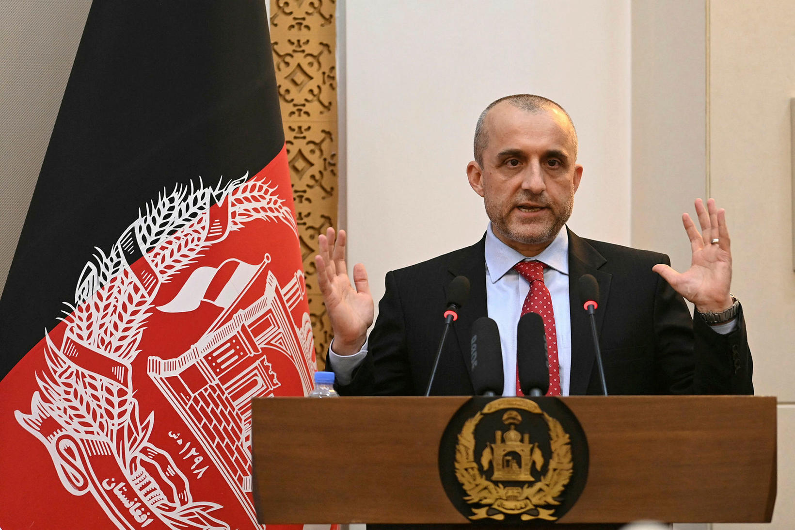 Fyrrverandi varaforseti Afganistan, Amrullah Saleh.