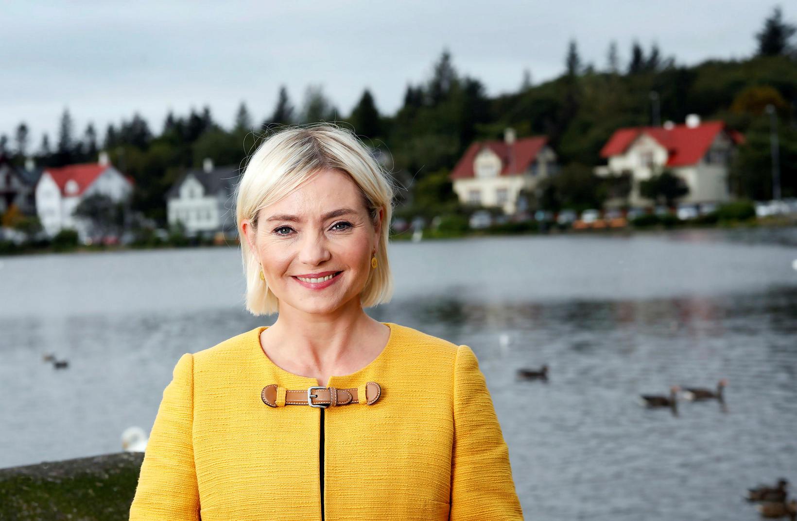Lilja Alfreðsdóttir er starfandi íþróttamálaráðherra þjóðarinnar.
