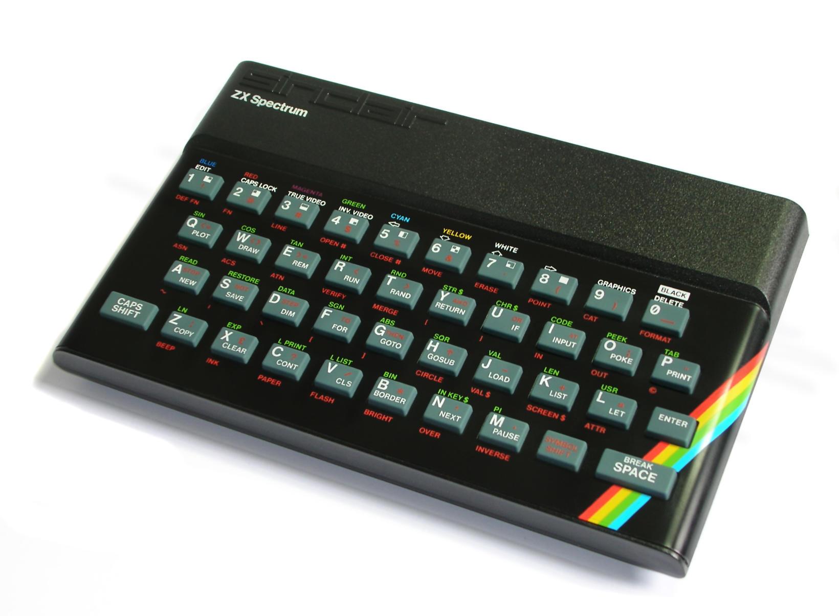 Sinclair ZX Spectrum-tölvan var vinsæl snemma á 9. áratugnum.