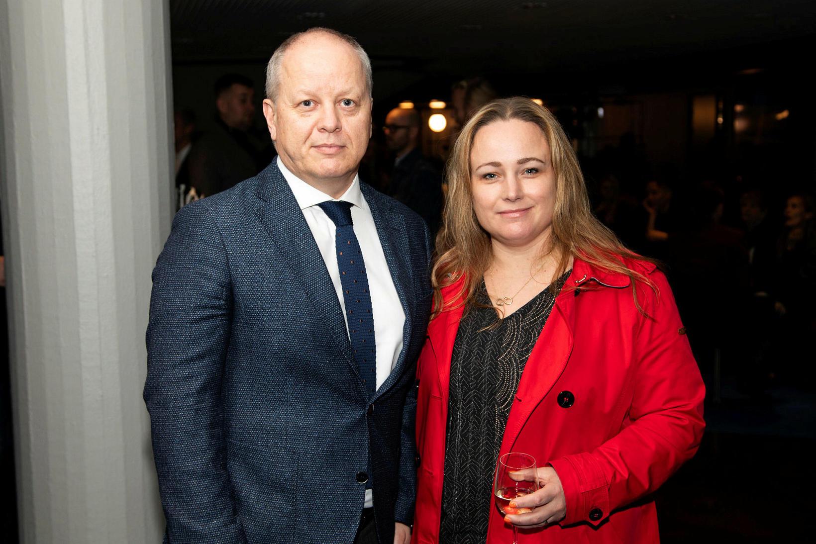 Stefán Eiríksson og Helga Snæbjörnsdóttir.