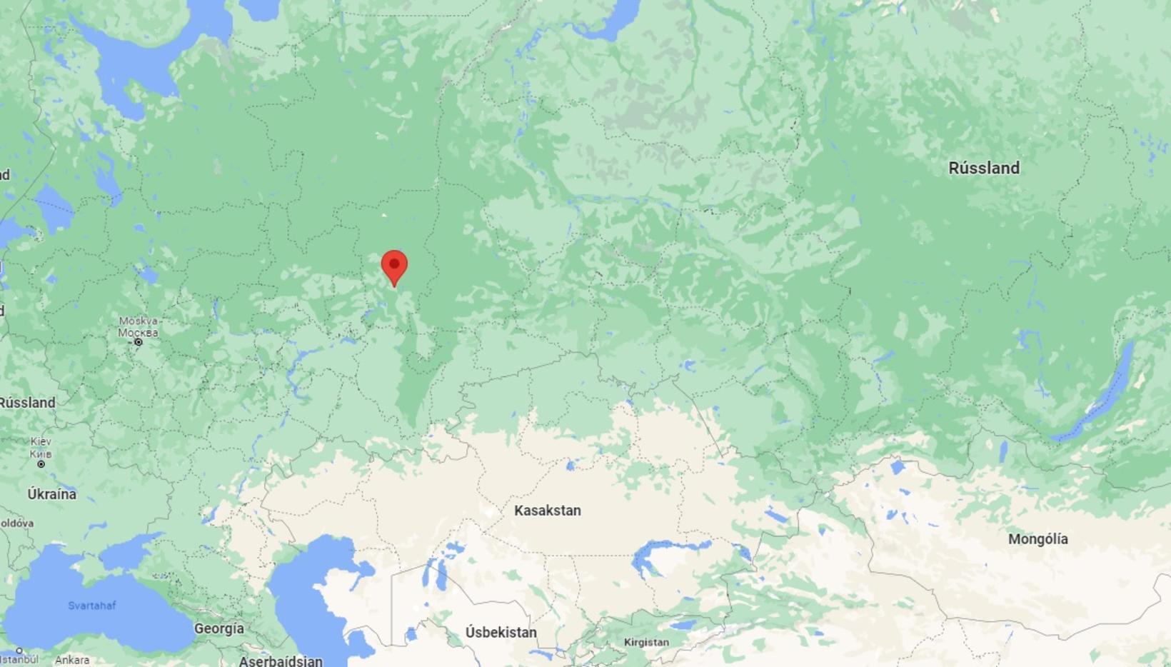 Borgin Perm er staðsett austur af Moskvu.