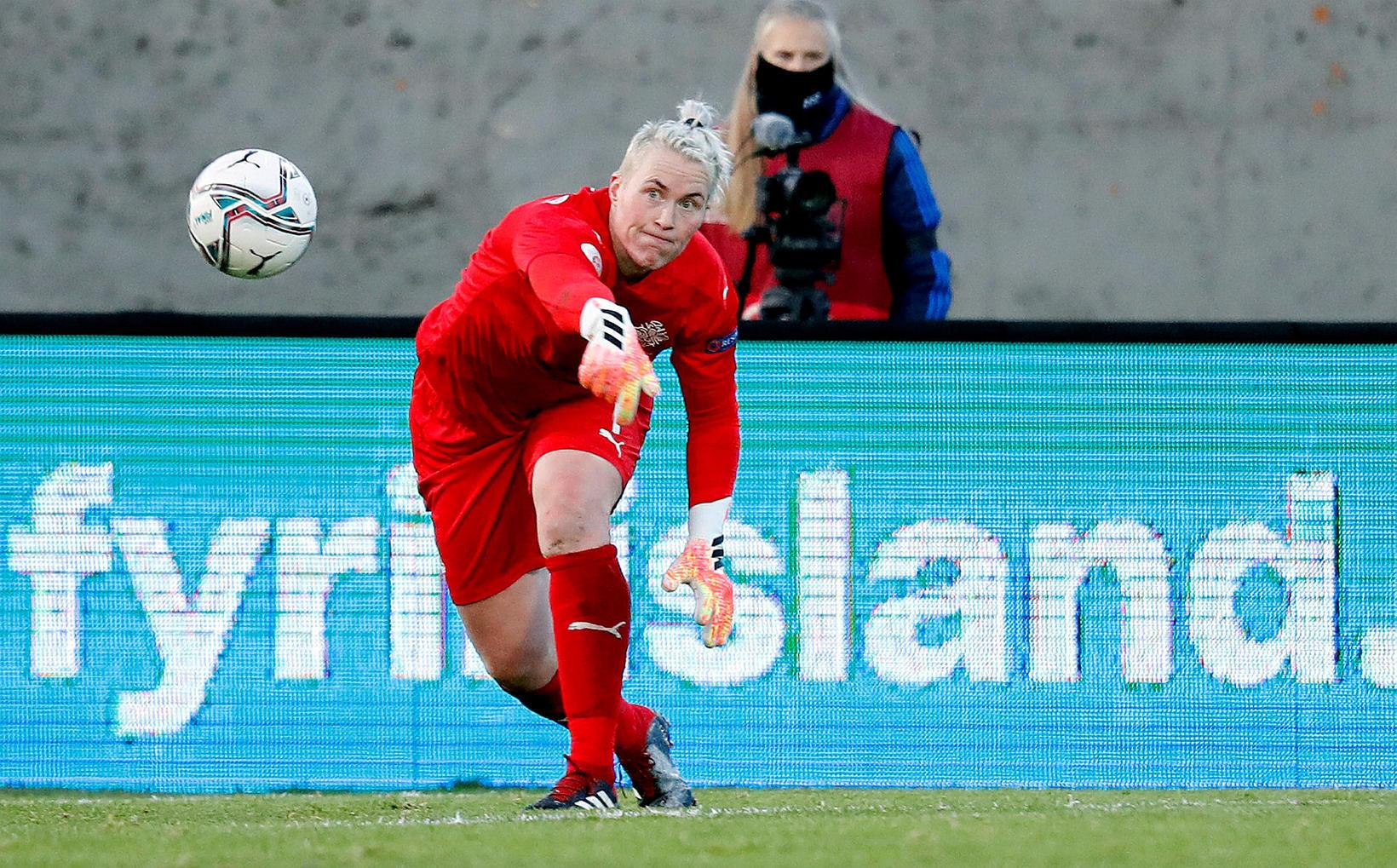 Sandra Sigurðardóttir er reynslumesti leikmaðurinn i hópnum.