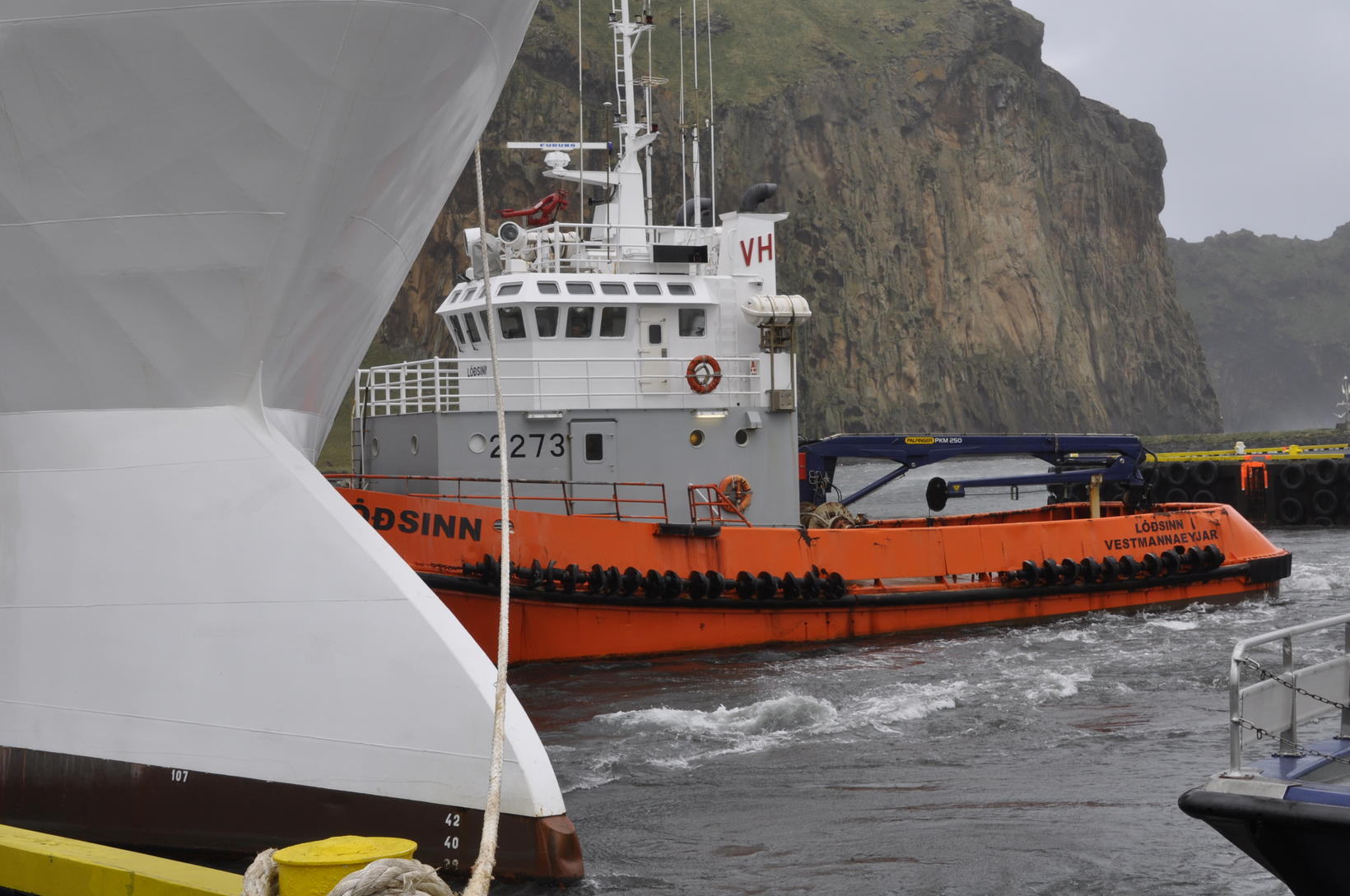 The towboat Lóðsinn.