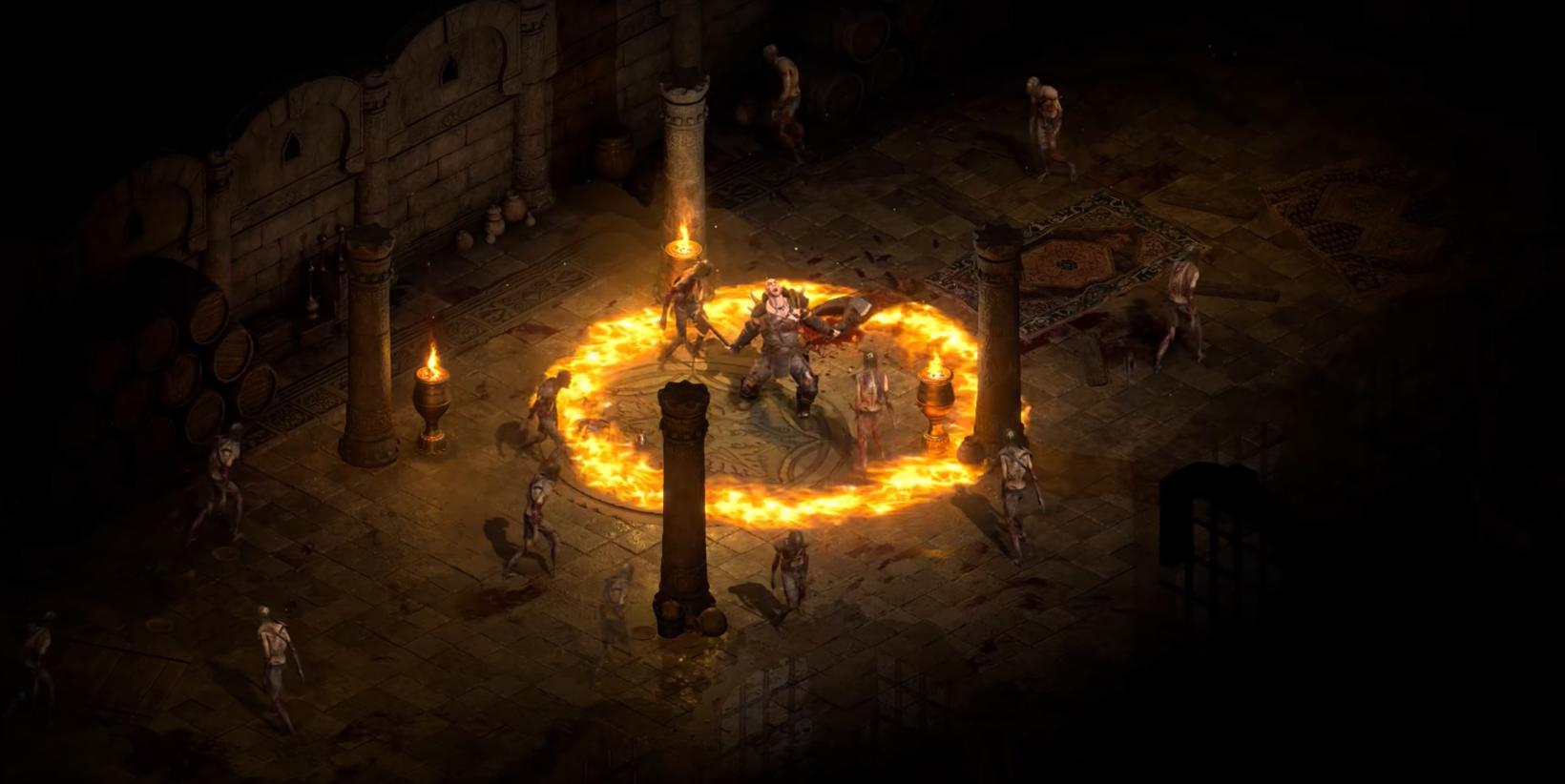 Skjáskot úr kynningarstiklu Diablo II Resurrected.