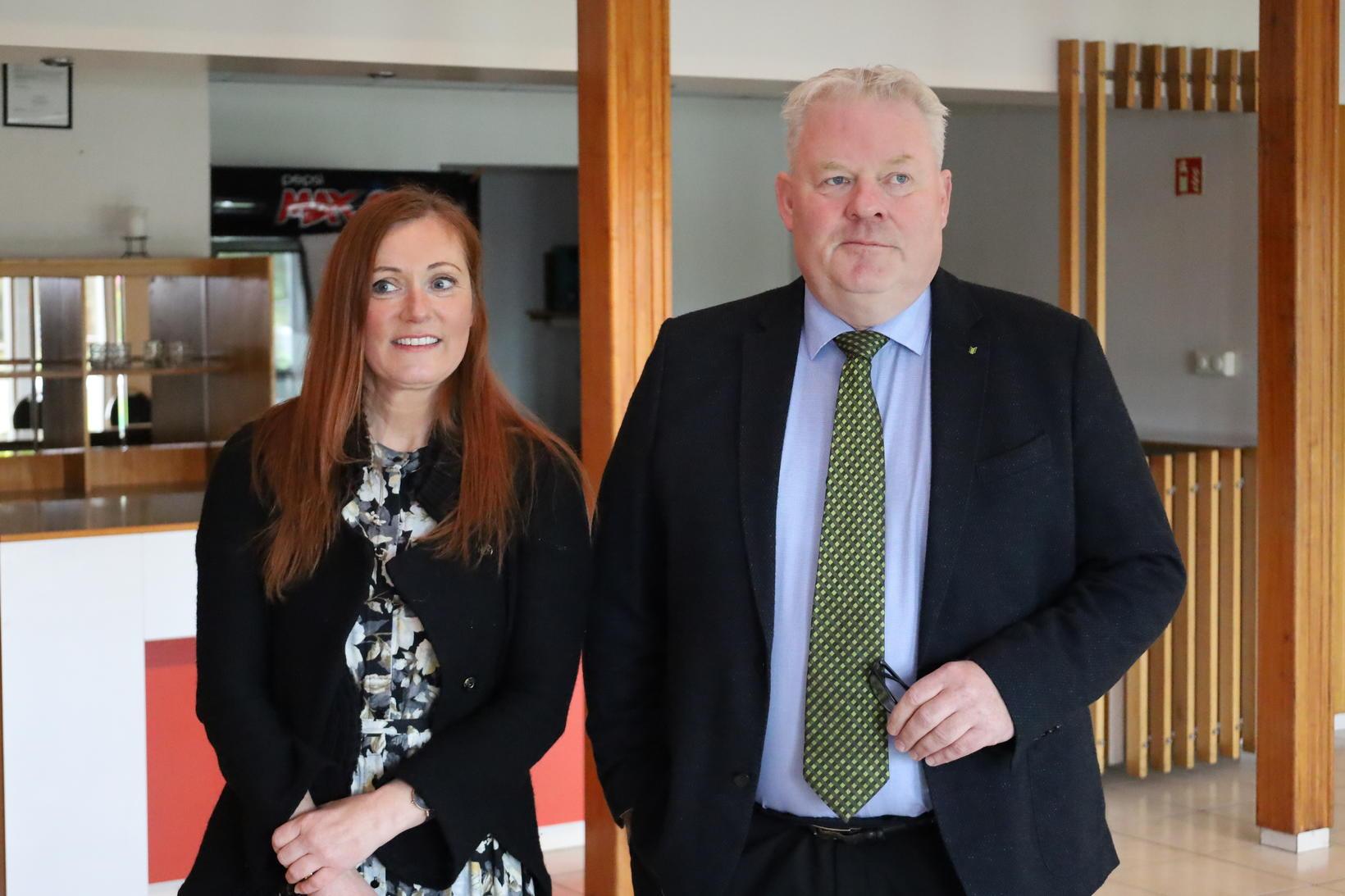 Sigurður Ingi Jóhannsson og Elsa Ingjaldsdóttir. Kosningar 2021