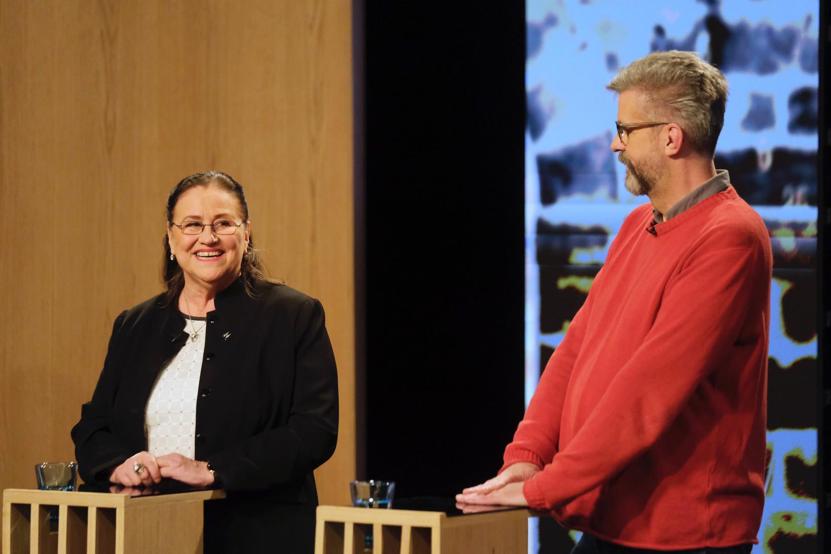 Inga Sæland og Gunnar Smári Egilsson.