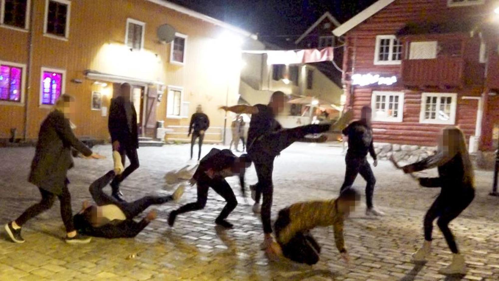 Stilla úr myndskeiði sem vegfarandi sendi norska ríkisútvarpinu NRK af …