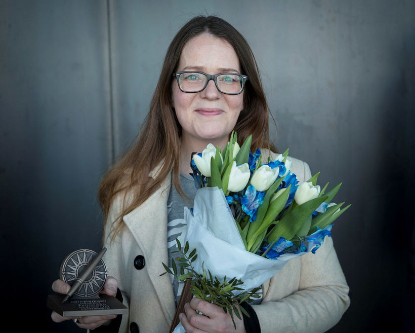 Sunna Ósk Logadóttir hlaut verðlaun fyrir bestu umfjöllun ársins.