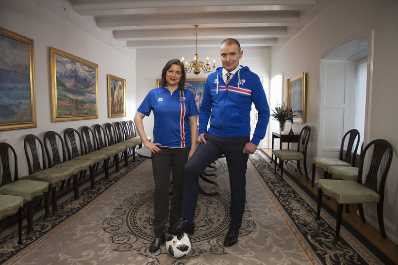 #TeamIceland, Team Iceland, Guðni Th. Jóhannesson and Eliza Reid.