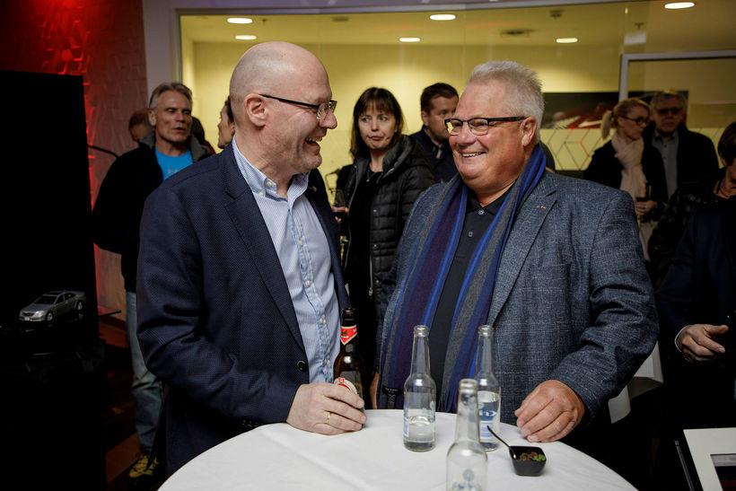 Ásbjörn Björnsson og Hinrik Kristjánsson.
