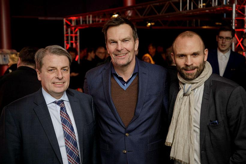 Úlfar Steindórsson, Logi Bergmann og Rúnar Freyr Gíslason.
