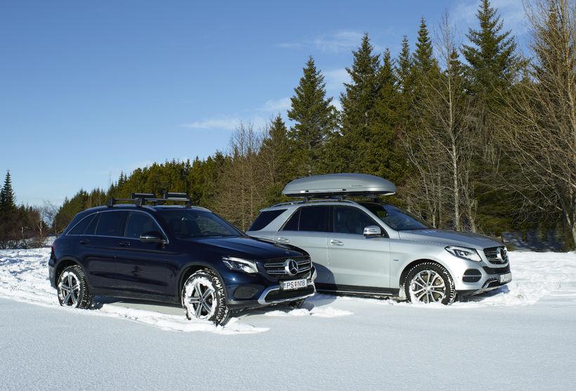 Mercedes-Benz GLE og GLC jepparnir í vetrarham.