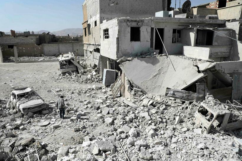Frá Douma - stærsta bæ Austur-Ghouta.