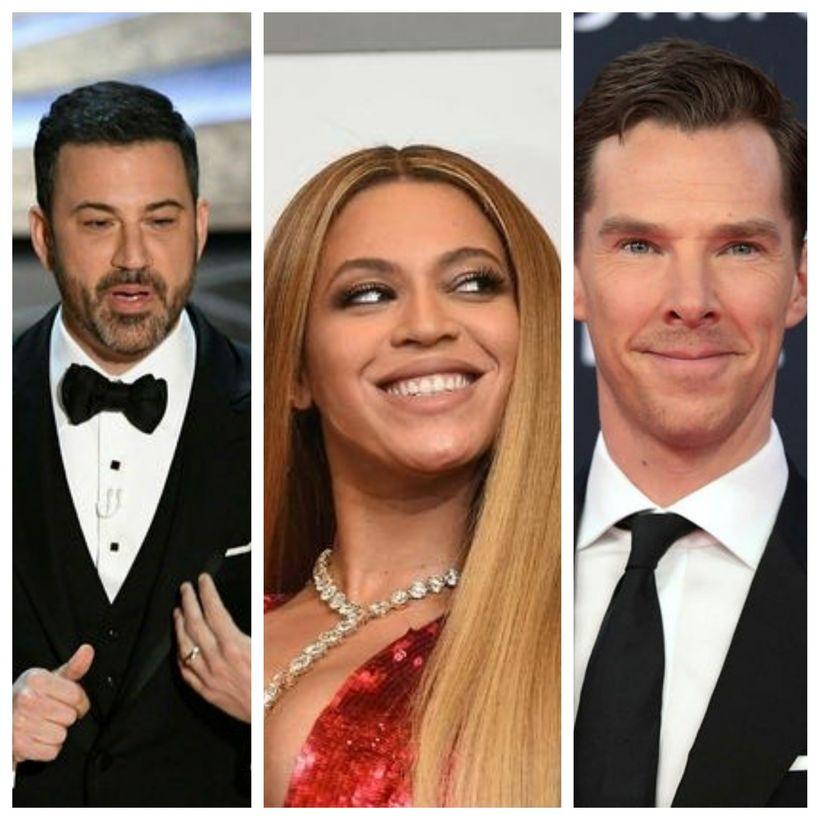 Jimmy Kimmel, Beyoncé og Benedict Cumberbatch eru meðal þeirra sem ...
