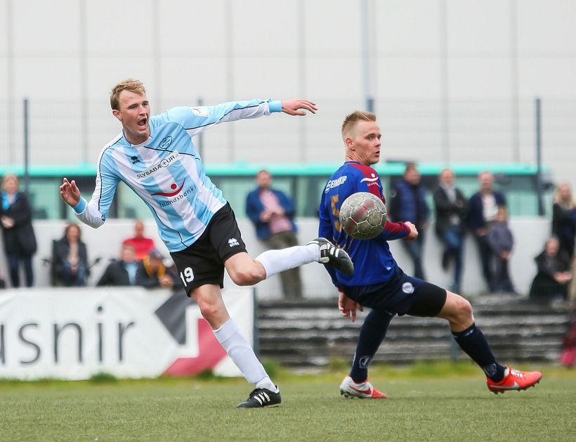 Luka Jagacic, til vinstri, í leik með Selfyssingum.