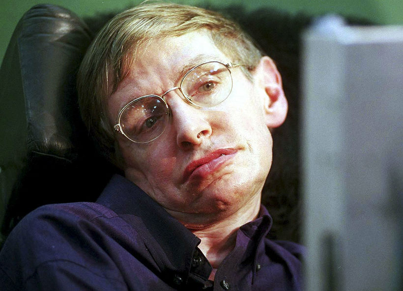 Stephen Hawking við kynningu áLeverhulme Centre for the Future of …