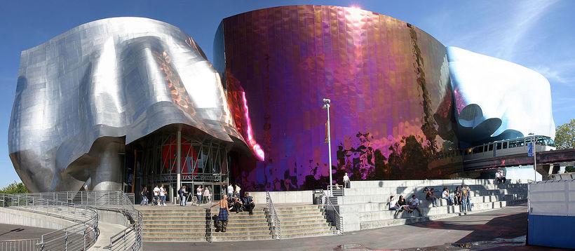 The Museum of Pop Culture í Seattle, Washington.
