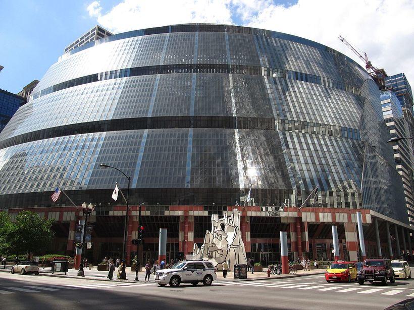 The Thompson Center í Chicago, Illinois.