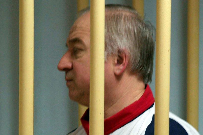 Sergei Skripal í réttarsalnum í Moskvu árið 2006.
