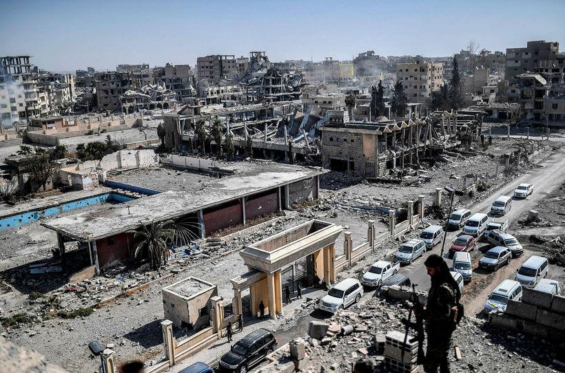Raqqa var undir yfirráðum Ríki íslams.