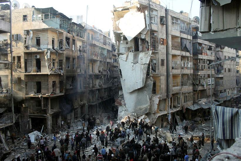 Aleppo árið 2013.