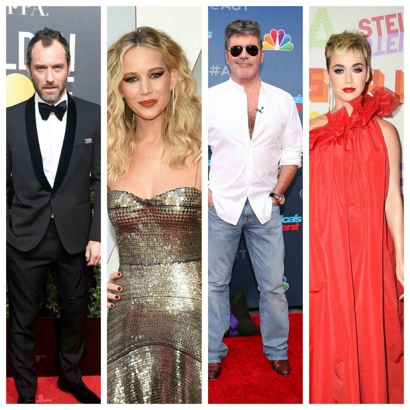 Jude Law, Jennifer Lawrence, Simon Cowell og Katy Perry eiga ...