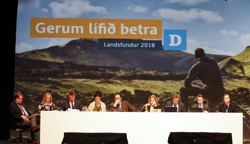 Landsfundur Sjálfstæðisflokksins fer fram í Laugardalshöll um helgina.