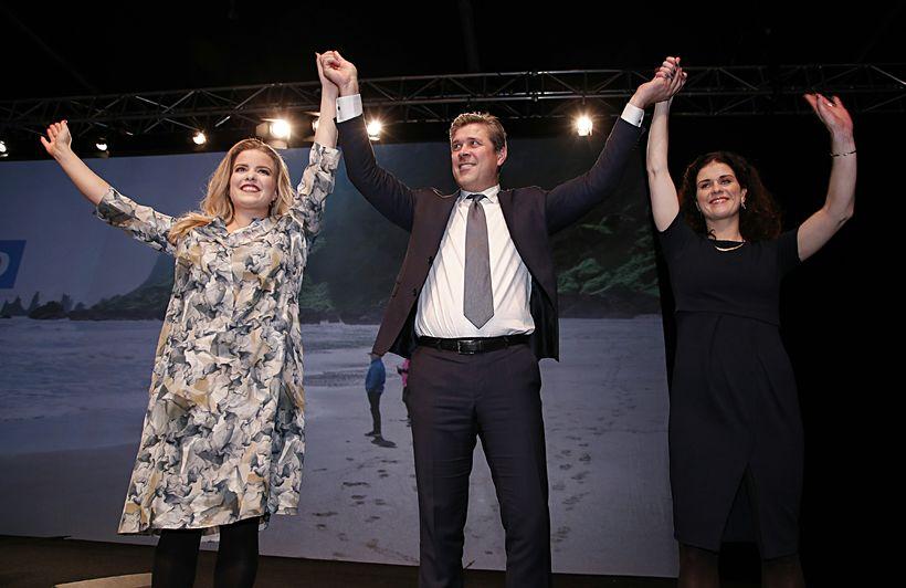 Áslaug Arna, Bjarni og Þórdís Kolbrún.