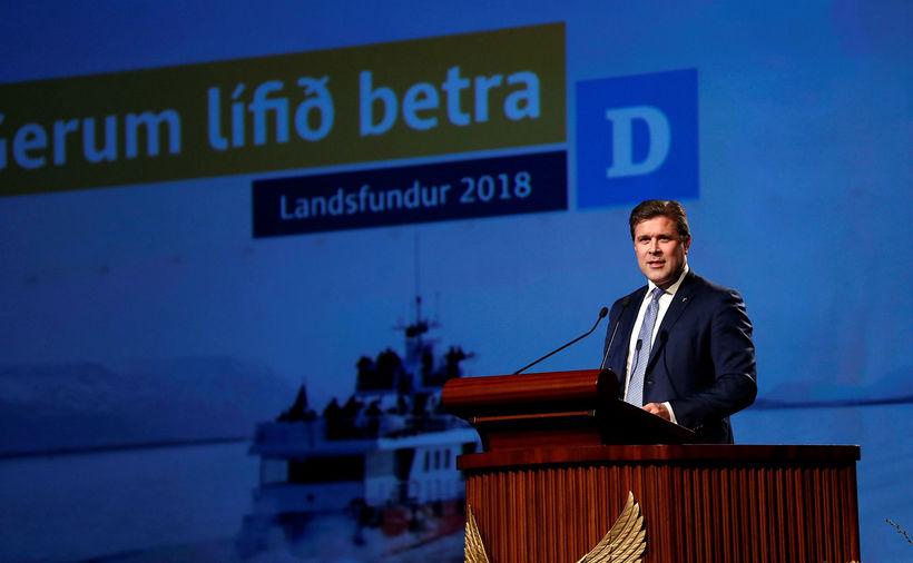 Bjarni Benediktsson fjámálaráðherra á landsfundi Sjálfstæðisflokksins um helgina.