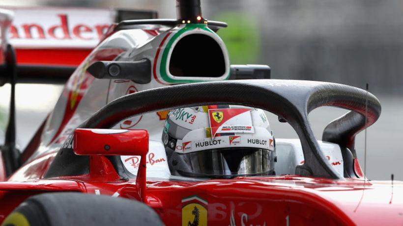 Hjálmhlífin á Ferraribílnum.
