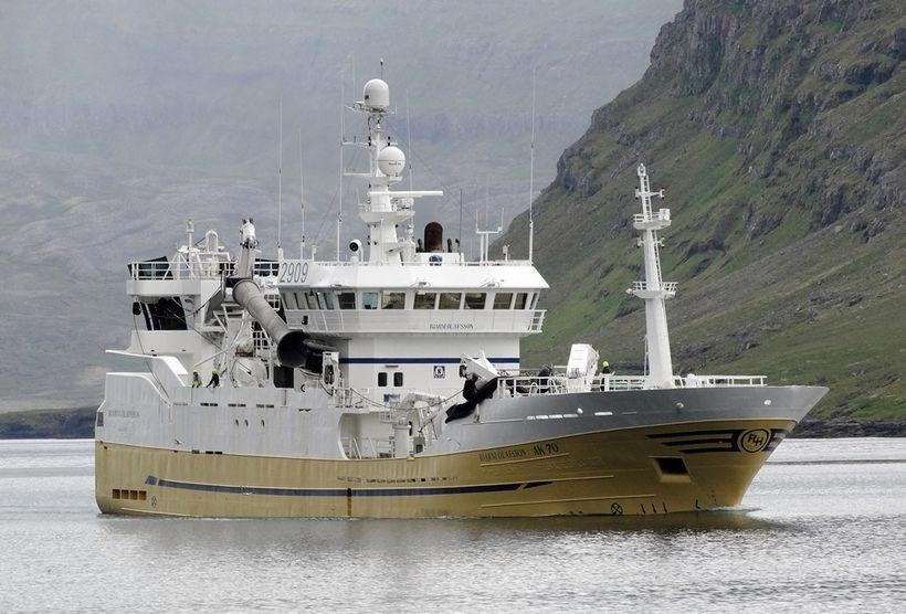 Bjarni Ólafsson AK landaði á Seyðisfirði í gærkvöldi.