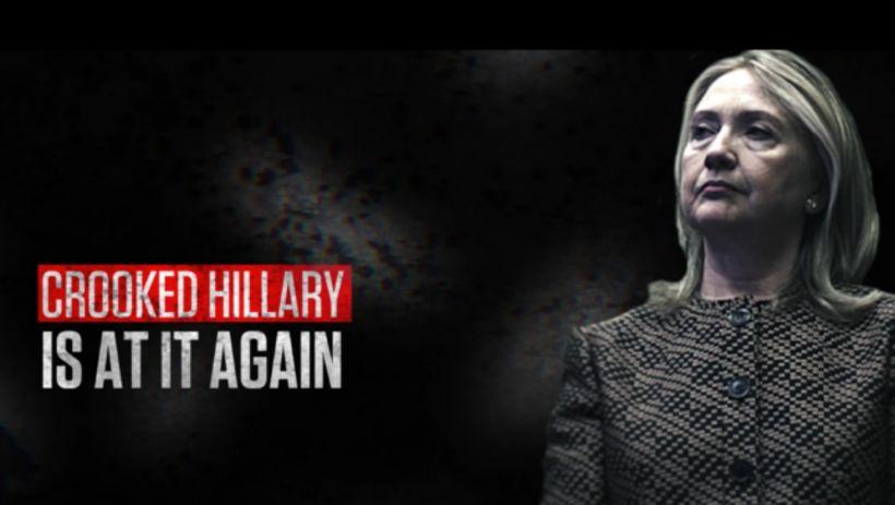 Auglýsingum um gjörspilla Hillary var dreift í gríð og erg ...