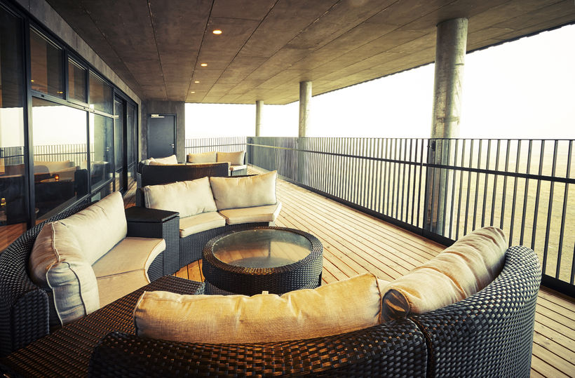 The stylish deck is perfect both in winter and summer. ...