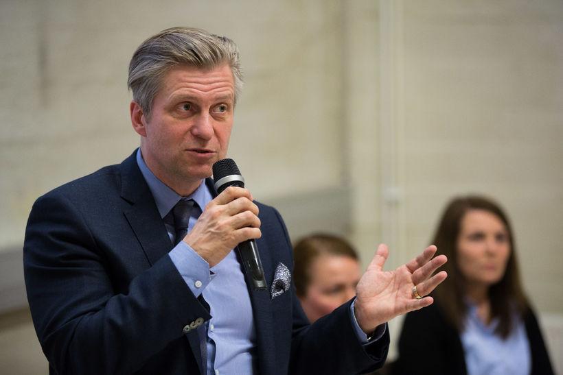 Eyþór Arnalds stóð fyrir íbúafundi í Grafarvog í kvöld.