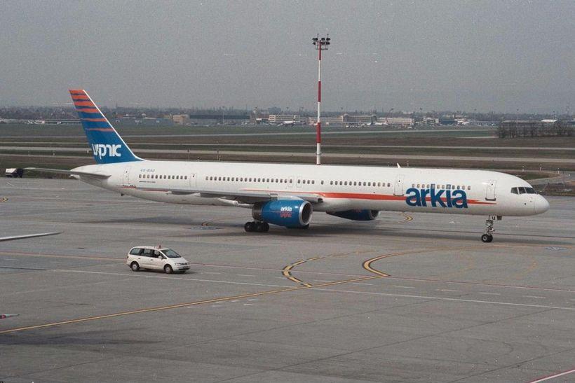 Boeing 757-3E7 merkt flugfélaginu Arkia.