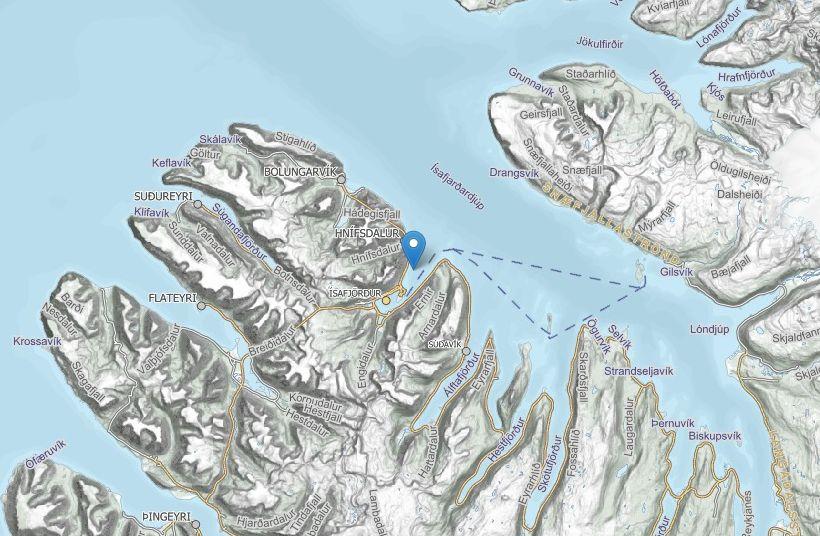 Fiskeldið er í Skutulsfirði, utan við Ísafjarðarbæ.