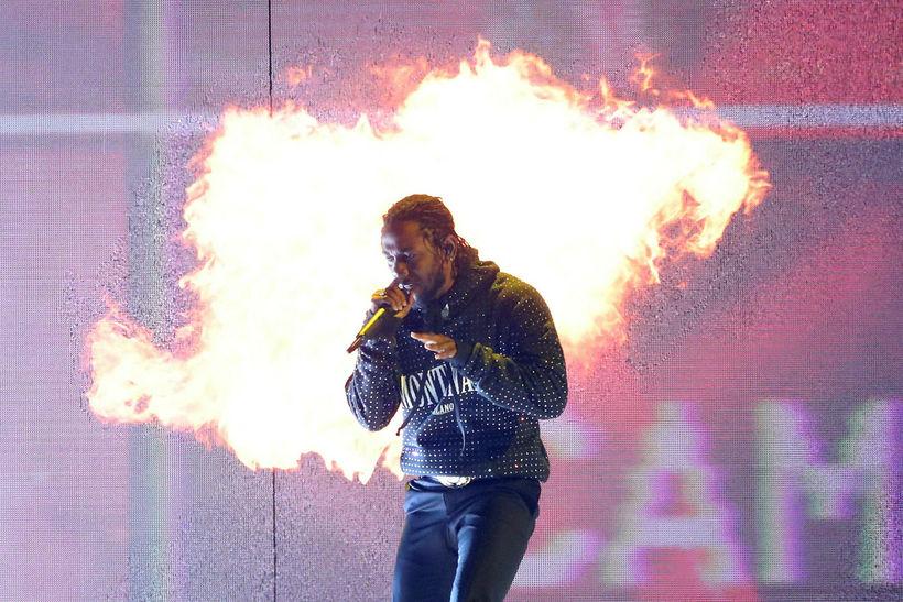 Kendrick Lamar á BRIT-verðlaunaafhendingunni í febrúar.