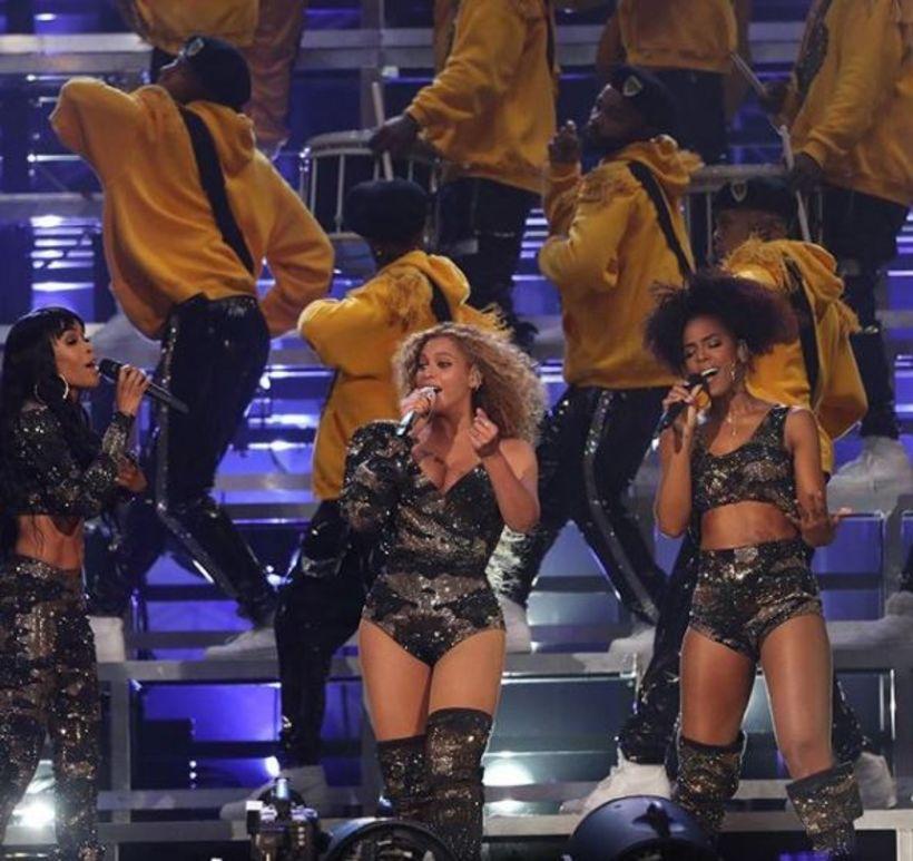 Michelle Williams var í buxum á meðan Beyoncé og Kelly ...