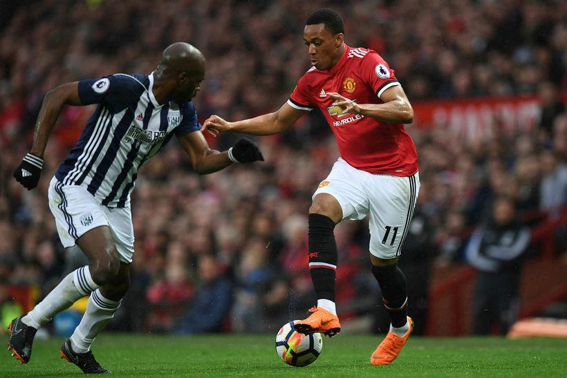 Anthony Martial í leik Manchester United og WBA á Old ...