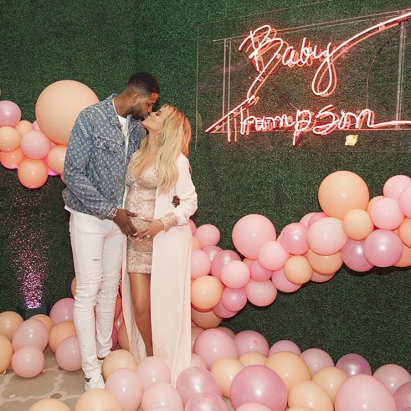 Tristan Thompson og Khloe Kardashian eignuðust sitt fyrsta barn á ...