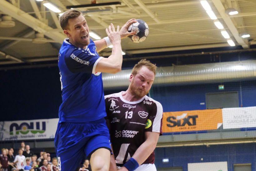 Ari Magnús Þorgeirsson er hér að skora fyrir Stjörnuna í ...