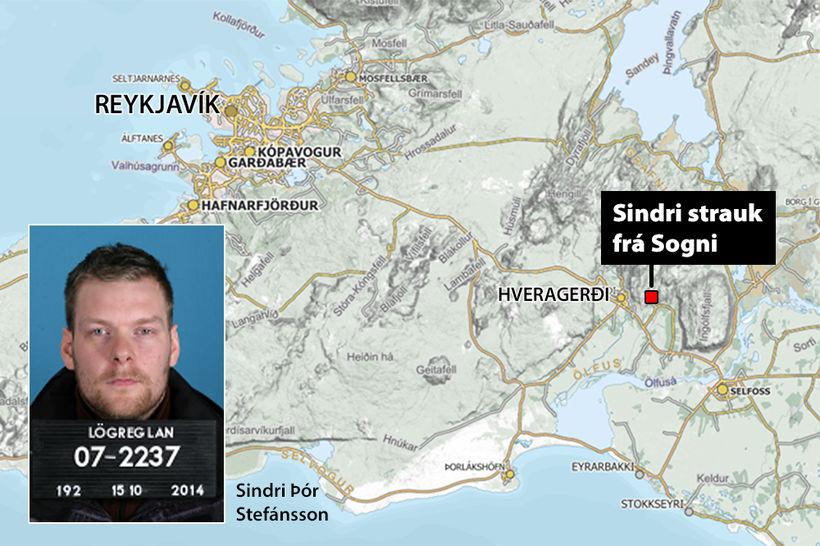 Sindri strauk frá Sogni fyrr í vikunni.