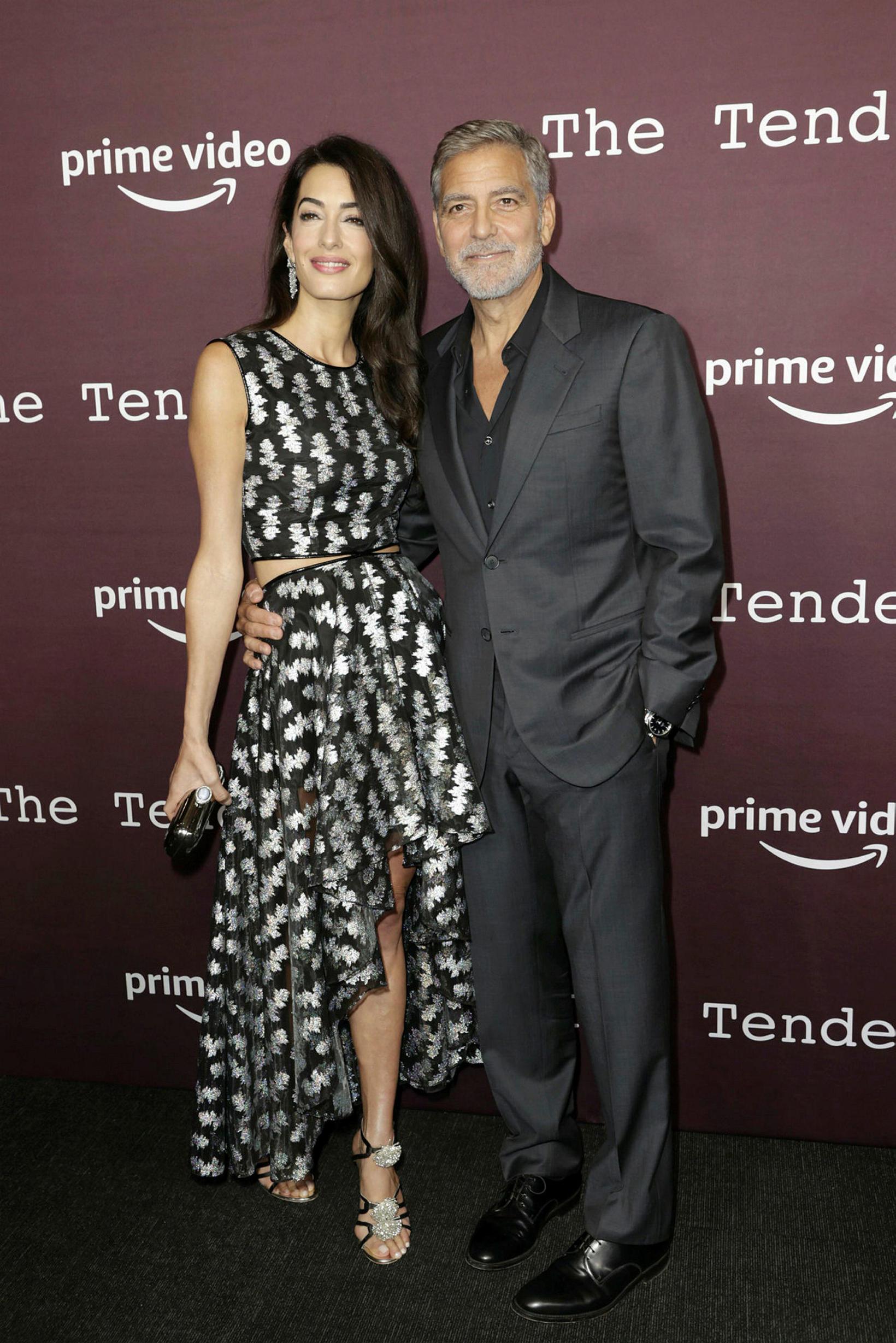 Hjónin Amal og George Clooney.