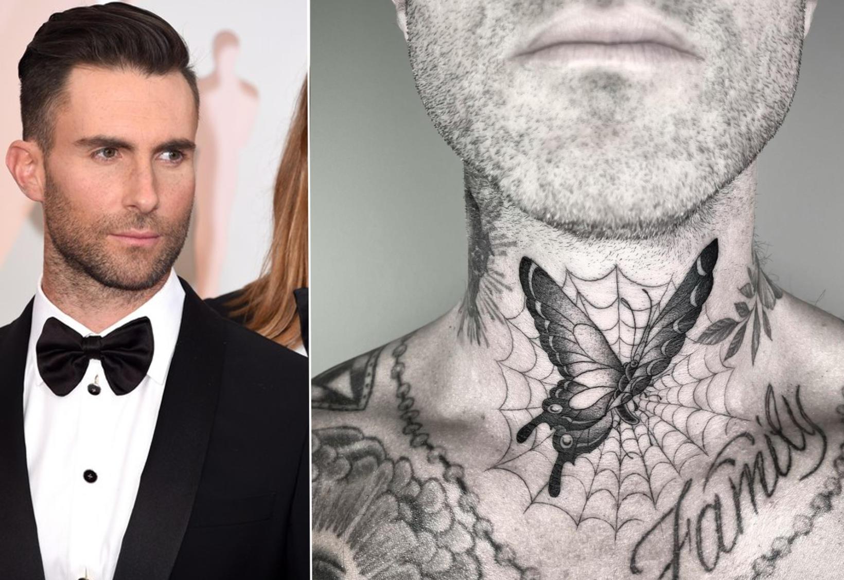 Adam Levine fékk sér nýtt húðflúr á meðan instagram lá …