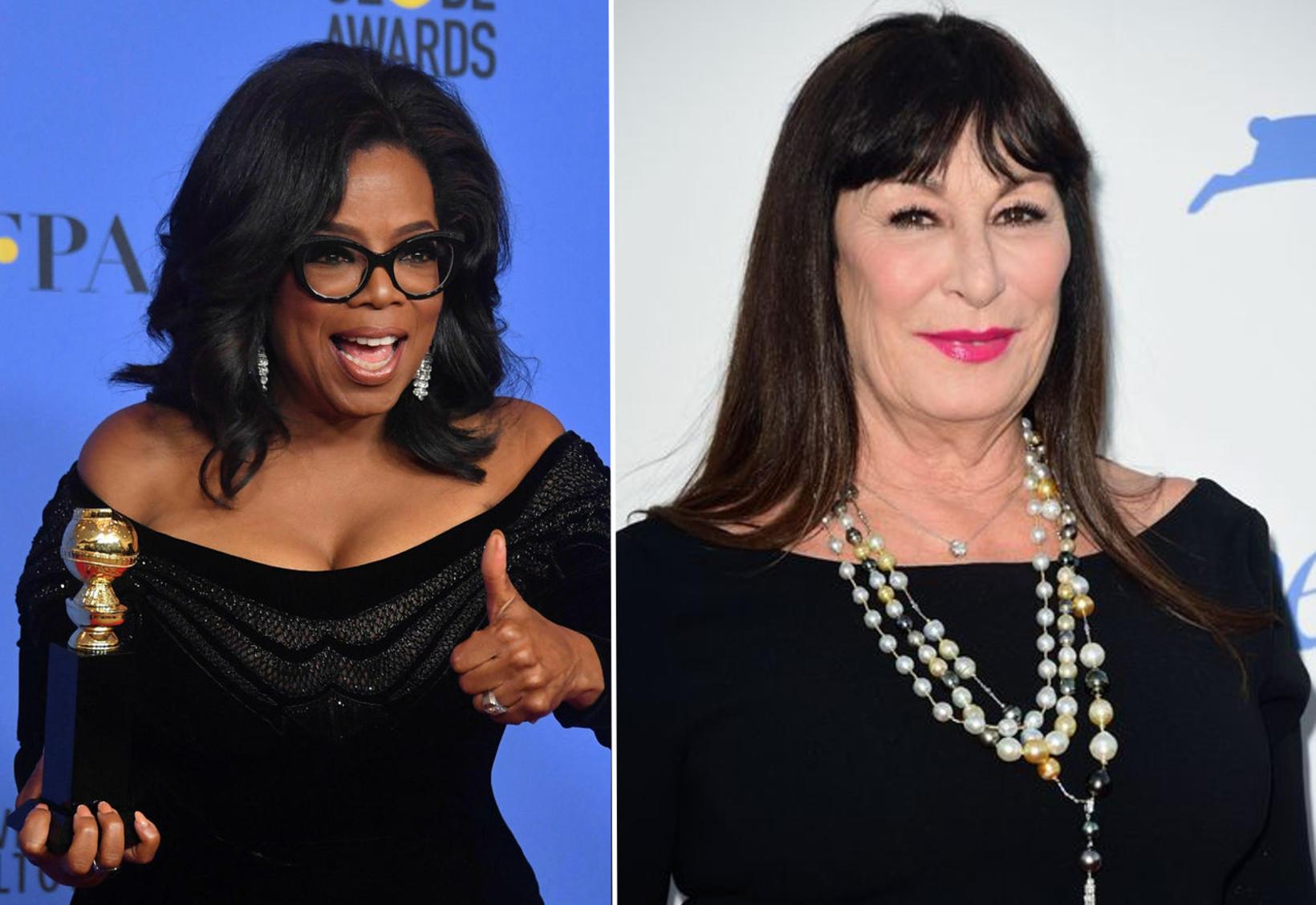 Leikkonan Anjelica Huston segir hegðun Oprah hafa orðið undarleg eftir …