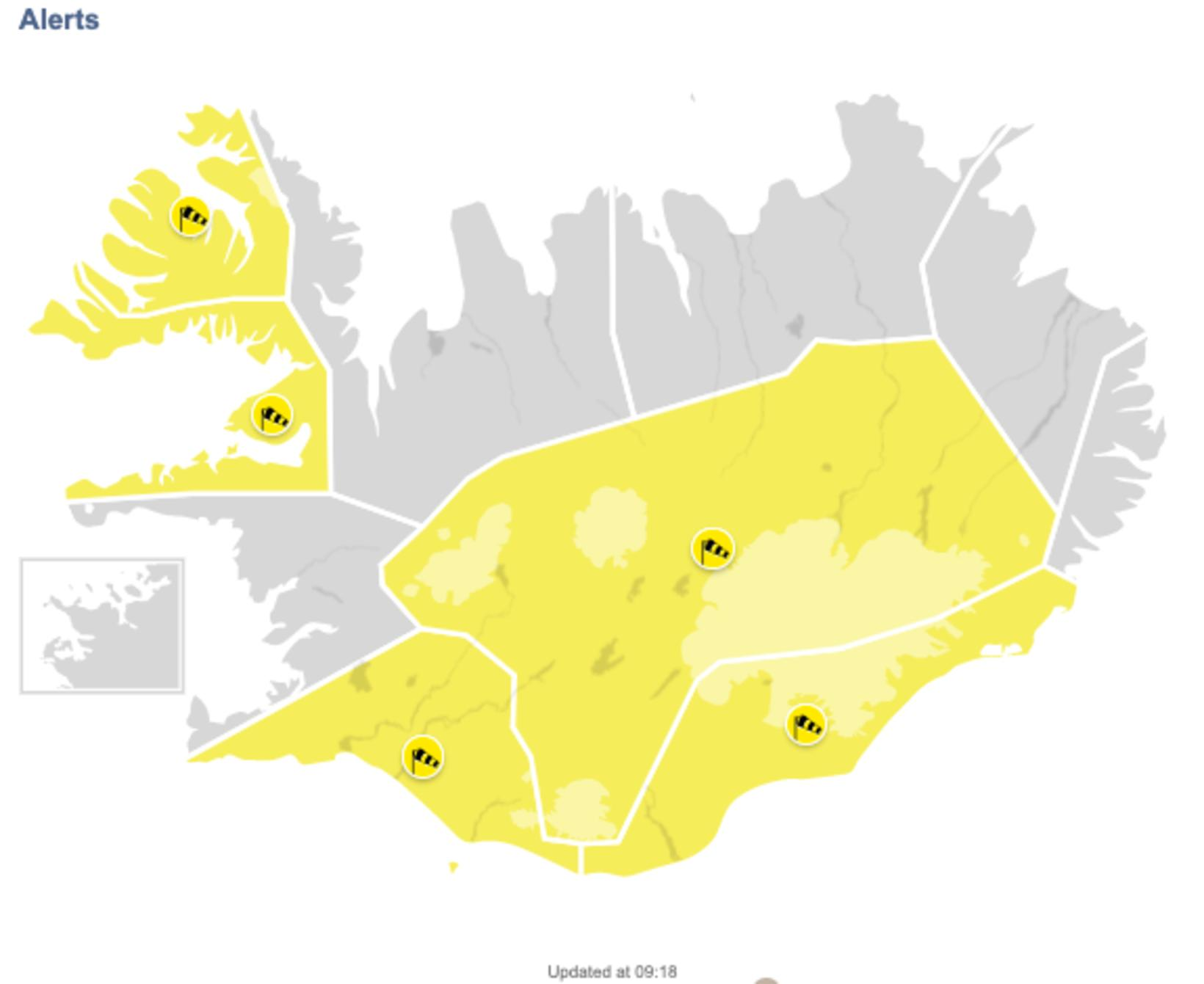 The affected areas.