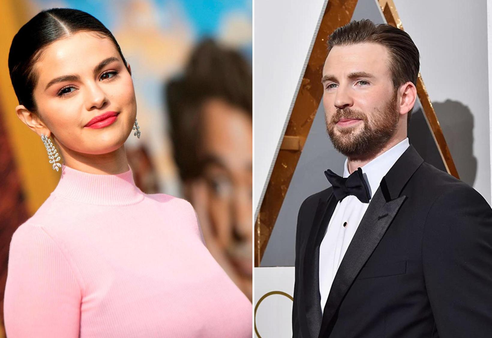 Orðrómur um það hvort Selena Gomez og Chris Evans séu …