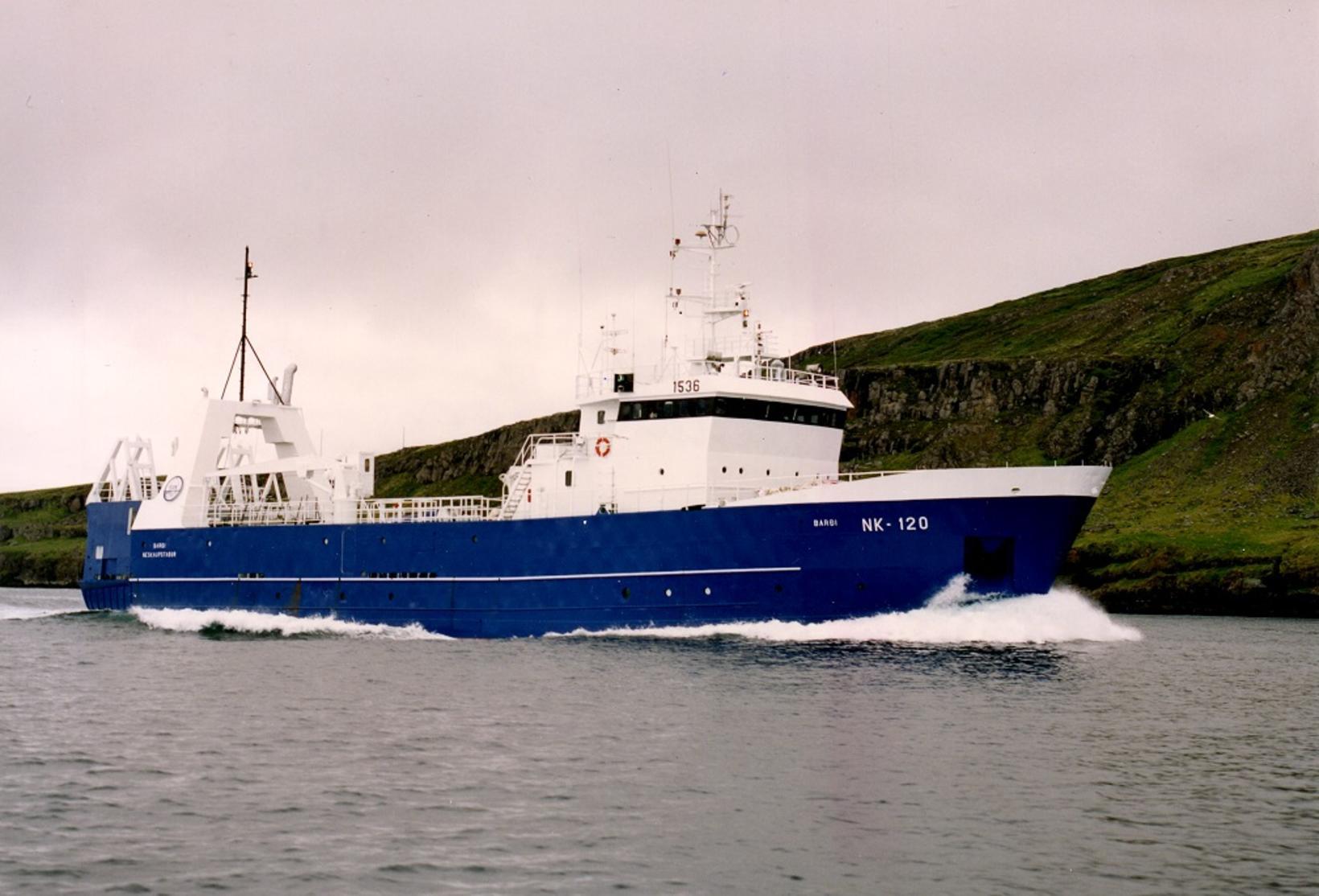 Fjórði Barði var frystitogari.
