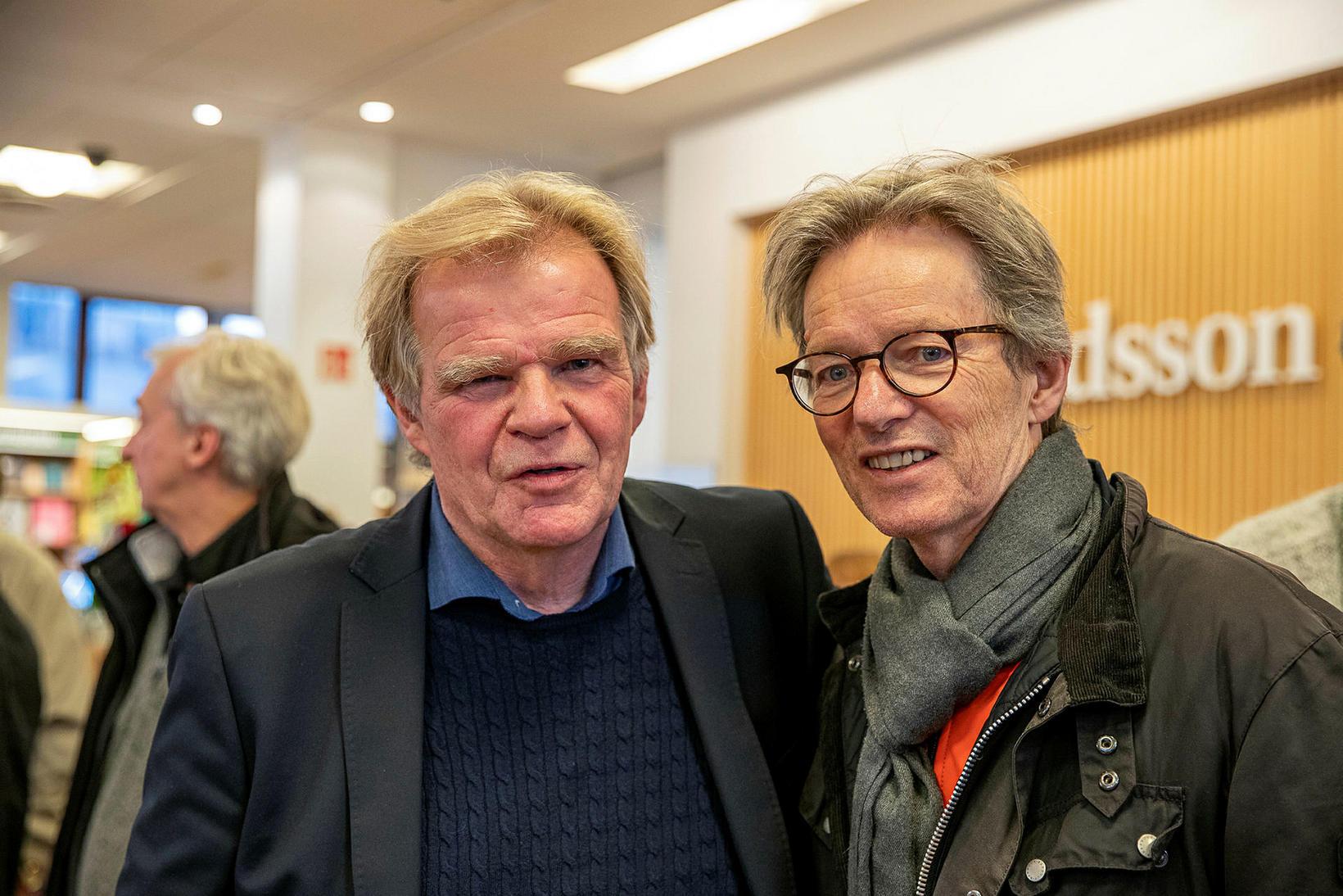 Einar Már Guðmundsson og Gestur Guðmundsson.